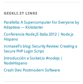geekli.st links reader